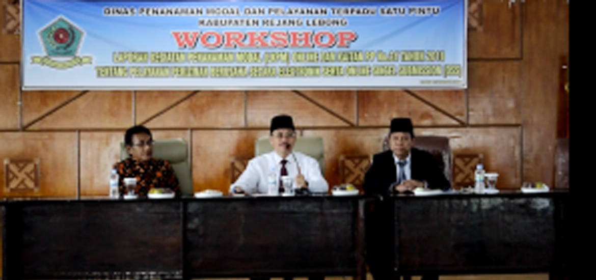 DPM-PTSP Rejang Lebong Gelar Workshop