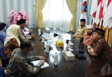 Komisioner KPU Sambangi Walikota Bengkulu