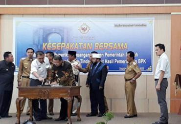 BPK dan Pemerintah Daerah Tandatangani Kesepakatan Bersama