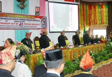 Paripurna HUT Provinsi Bengkulu Ke-49, Plt Gubernur…