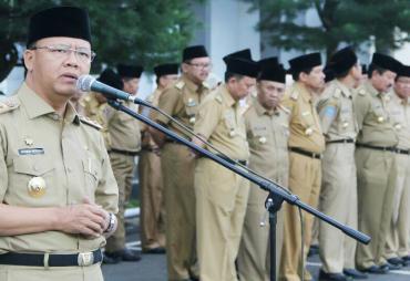 Apel Perdana 2018, Plt Gubernur Bengkulu Evaluasi Kinerja