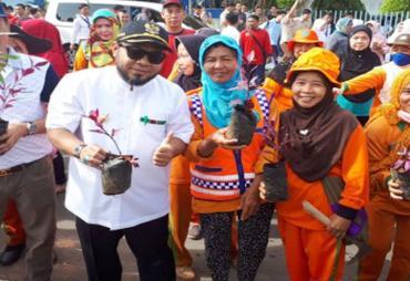 10 Ribu Bibit Tanaman di Median Jalan Kapuas
