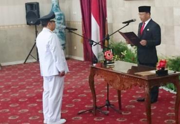Penjabat WaliKota Bengkulu Budiman Ismaun Resmi Dilantik