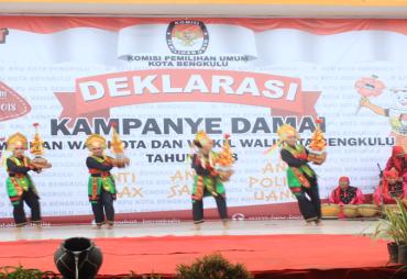 KPU Kota Bengkulu Deklarasi Kampaye Damai