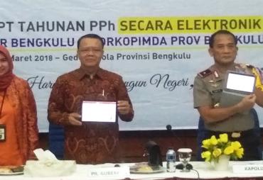 Pemprov Bengkulu Sampaikan SPT Tahunan Secara Elektronik