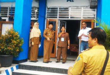 Pantau UNBK, Pj Wali Kota Bengkulu Sidak Ke SMPN 1