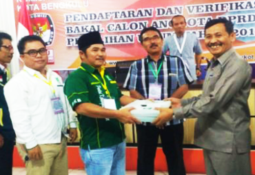 PKB Kota Bengkulu Daftarkan Bacaleg Ke KPU
