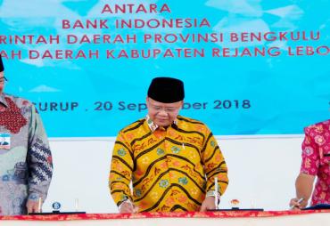 Plt Gubernur Bengkulu Tandatangani Pengembangan Daerah…