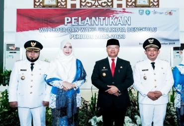 Lantik Walilikota Bengkulu, Plt Gubernur Rohidin Mersyah…