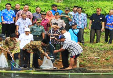Bupati Bengkulu Utara Panen Raya Ikan Air Tawar di Padang…