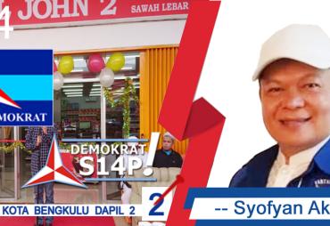 Syofyan Akmal Dukung Program Pemkot Bengkulu Yang Pro Rakyat
