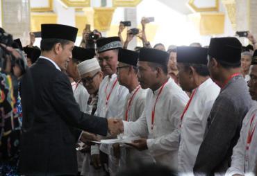 Presiden Jokowi Serahkan Lahan Hibah di Bengkulu