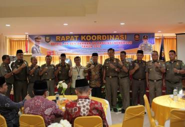 Rakor se-Provinsi Bengkulu, Peran Satpol PP Sangat Vital…