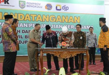 Pemda Se-Provinsi Bengkulu Bersama Kanwil BPN dan DJP…