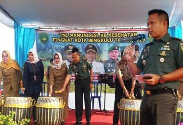 Kodim 0407/Bengkulu bersama Dinas BKKBN Kota Bengkulu…