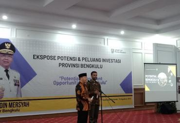 Gubernur Ekspos Potensi Provinsi Bengkulu di Didepan…