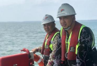 Sambangi Pelabuhan Pulau Baai, Sekda Nopian Pantau…