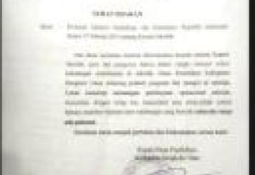 Soal Pungli, Kadisdik BU Terbitkan Surat Edaran