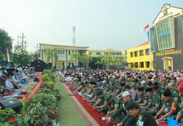 Wujudkan Indonesia Damai, Polda Bengkulu Gelar Istighotsah