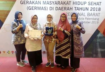 Pemprov Bengkulu Raih Penghargaan Pelaksanaan Germas Terbaik
