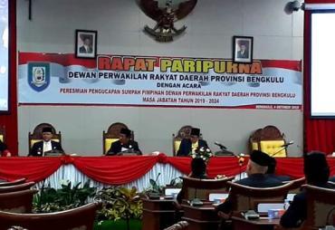 4 Pimpinan Dewan Provinsi Resmi Dilantik, Gubernur :…