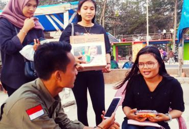 Wujud Kepedulian Penyandang Disabilitas, Mahasiswa UNIB…