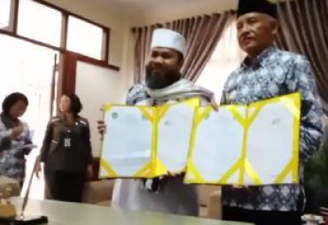 Helmi Hasan Ajak Pemkab Sleman Mou Religius dan Bahagia