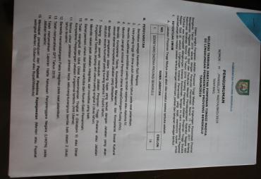 Pemprov Bengkulu Gelar Seleksi Terbuka Jabatan Sekda…