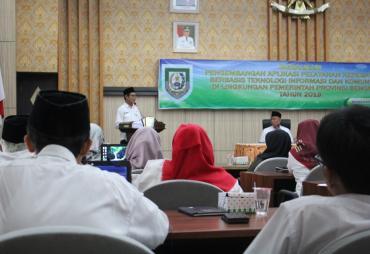 BKD Provinsi Bengkulu Sosialisasi Pengembangan Aplikasi…