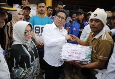 Mendes PDTT Tinjau Lokasi Banjir Lebak Banten