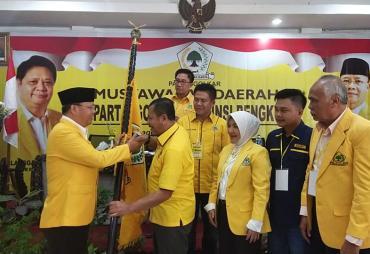 Rohidin Pimpin Kembali Golkar Provinsi Bengkulu