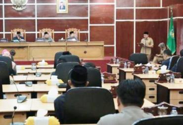 DPRD Kota Bengkulu Gelar Paripurna Pembentukan PROPERMPERDA