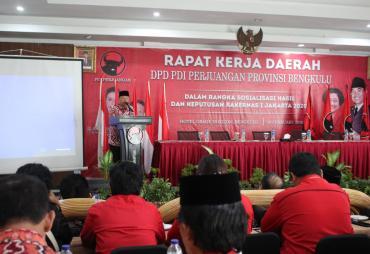 Rakerda PDIP Provinsi Bengkulu, Rohidin : Jangan Hanya…