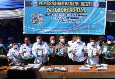 Pemprov Bengkulu Dukung Penuh Penegak Hukum Berantas Narkoba