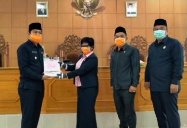 Paripurna DPRD BU Agenda Penyampaian LKPJ Bupati Tahun 2019
