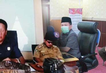 Rapat Paripurna Virtual Meeting, DPRD Provinsi Bengkulu…