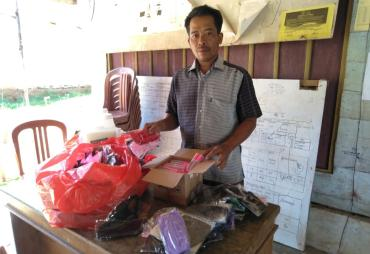 Musdes Desa sinar Banten Bagi kan BLT DD 15 KK dan Bagikan…