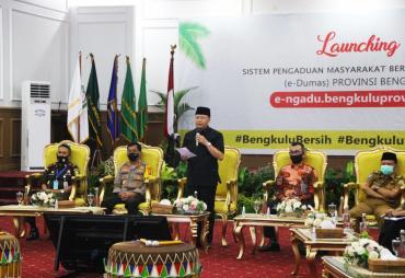 Perdana! Layanan e-Dumas Pemprov Bengkulu akan jadi Pilot…