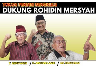 Tiga Tokoh Karesidenan Bengkulu Dukung Rohidin