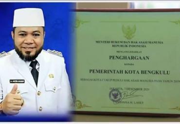 Kota Bengkulu Raih Penghargaan Sebagai Kota Peduli HAM 2020