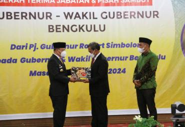 Gubernur Rohidin Terima Memori Jabatan dari Pj. Gubernur…