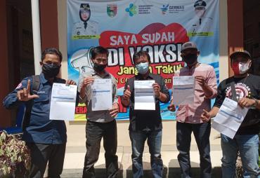 DPW KWI Tanggamus Lakukan Vaksin Covid-19