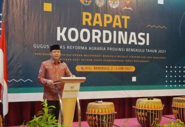 Rakor GTRA,  gubernur Rohidin Minta Lahan Konflik dan HGU…