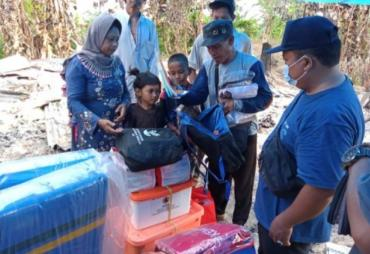 Dinas Sosial dan BPBD Tanggamus Serahkan Bantuan kepada…